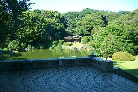 Nationalmuseum Tokyo: View on the tea garden
