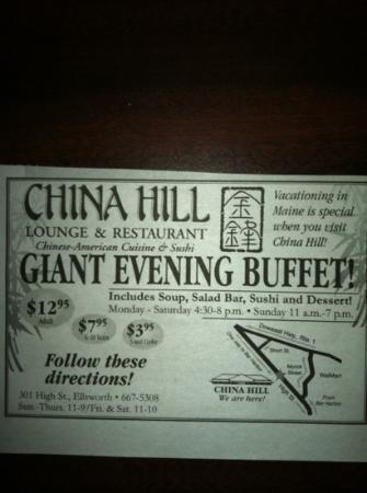 China Hill Incorporated : a great change from Lobster