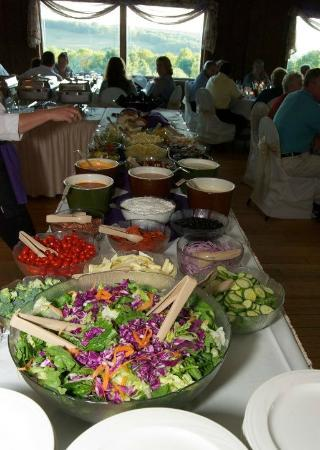 Silo Restaurant & Carriage House Guest Rooms: Salad bar at my wedding