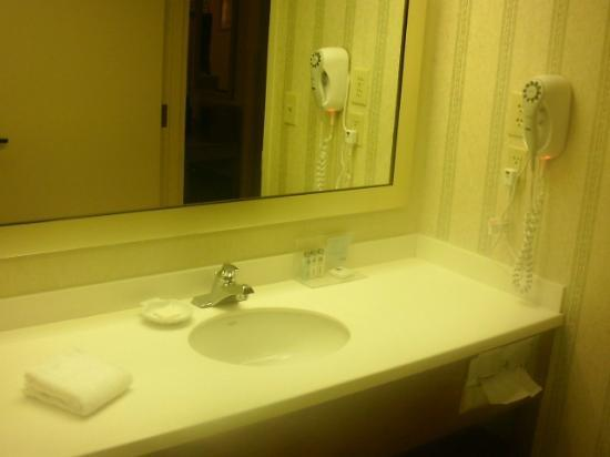 Hampton Inn Martinsville: Bath with large bath counter