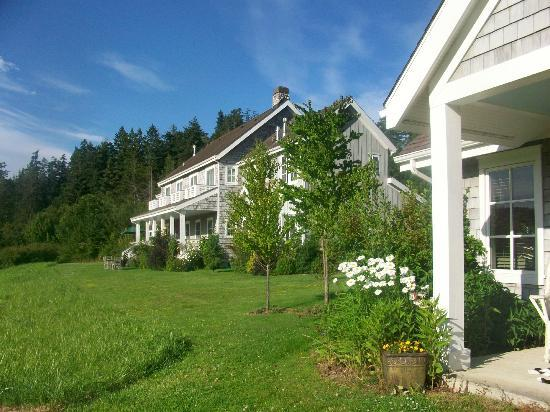 The Inn on Orcas Island: View of main house from cottage