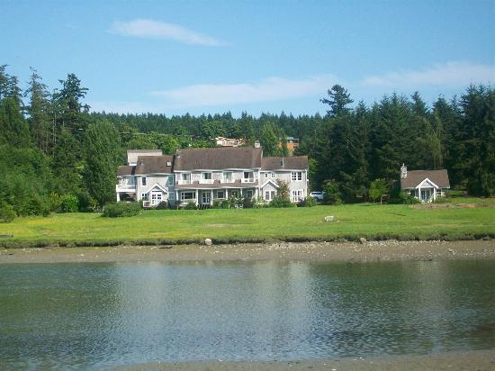 The Inn on Orcas Island: View from across the inlet while hiking