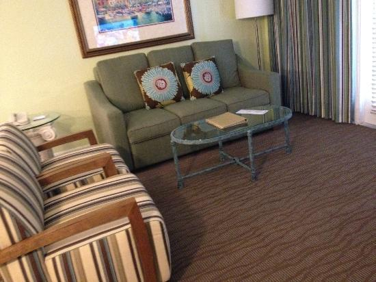 Star Island Resort and Club: Living room area with sleeper sofa (A unit)