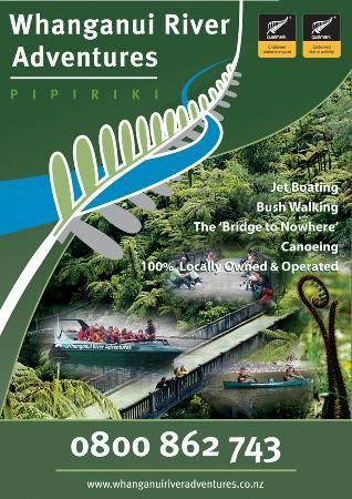 Whanganui River Adventures Logo and pics