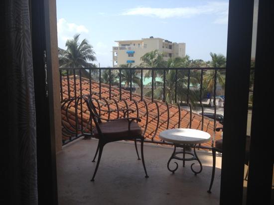 Delray Beach Marriott: huge balcony! one bedroom suite