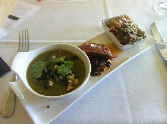 Taste Carolina Gourmet Food Tours: Table 16 Apps (gazpacho/tuna/risotto)