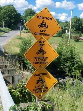 NEK Adventures ATV & Snowmobile Tours: Signs