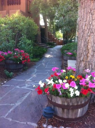 Inn on the Alameda : A peaceful walk to lobby for a delicious breakfast!