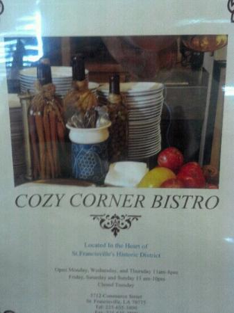 Cozy Corner Bistro