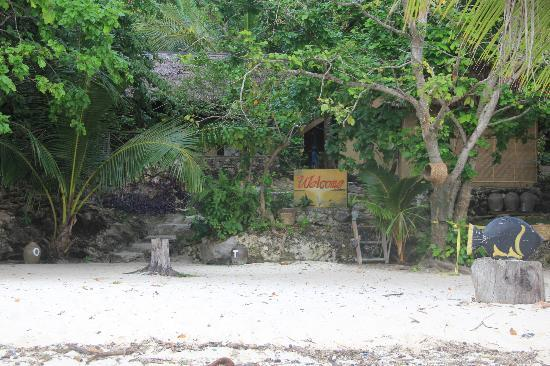 Hoga Island Dive Resort: Beach/ Entrance to the property