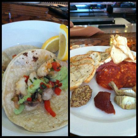 Shorebreak Lodge: Monk Fish Taco, Salami Plate