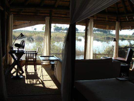 Wilderness Safaris Kings Pool Camp: View from King's Pool Room