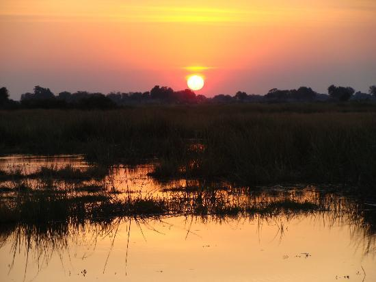 Wilderness Safaris Kings Pool Camp: Sunset from King's Pool