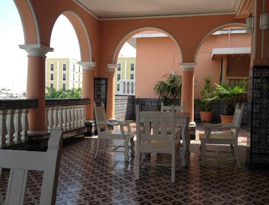 Hotel Colonial: There is a patio area on the 5th floor that we found a great place for both relaxation and worki