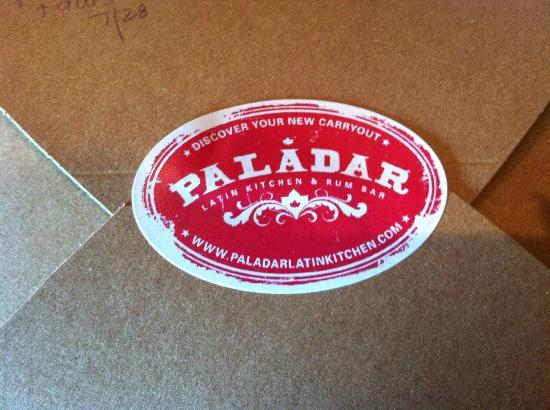 Paladar Latin Bar and Restaurant : They nicely box up your leftovers