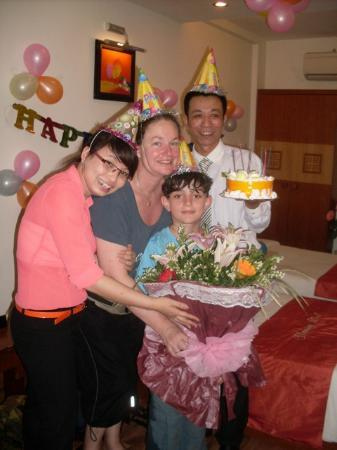 Hanoi Charming Hotel: Surprise birthday party