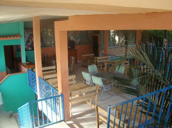 Hotel Mirador de Amapala: Una de las áreas para tomar los alimentos