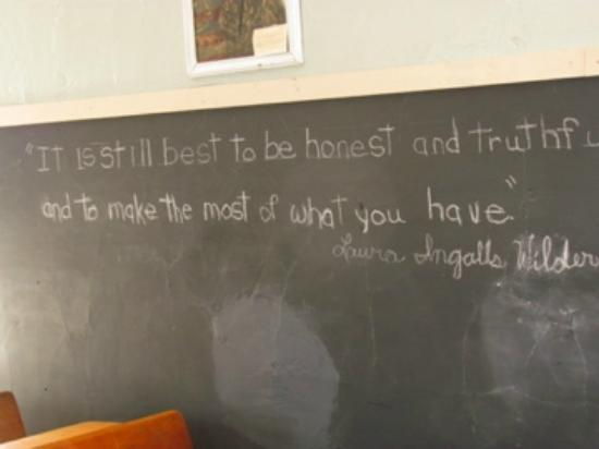 Ingalls Homestead - Laura's Living Prairie: school time