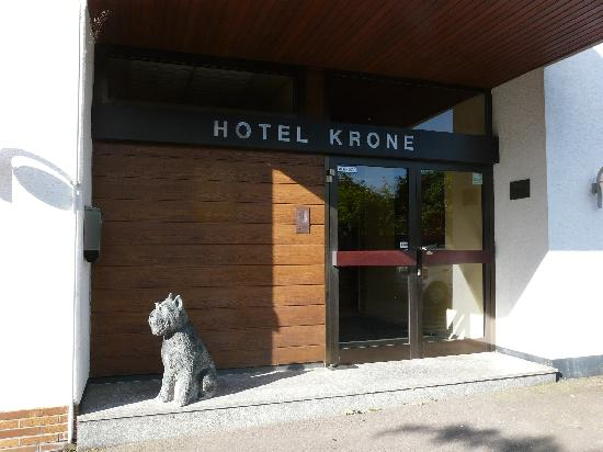 Krone Hotel-Traben Trarbach: Ingang hotel Krone
