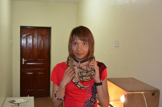 Snake Park: Me with a python