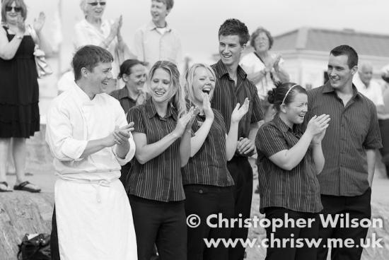 Marine Hotel: Our Champion Chef & Dining Room Staff, Carnival Waiters Race