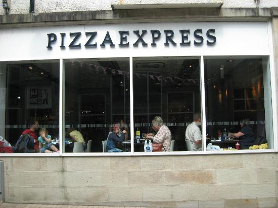 Pizza Express: As seen fro the yard