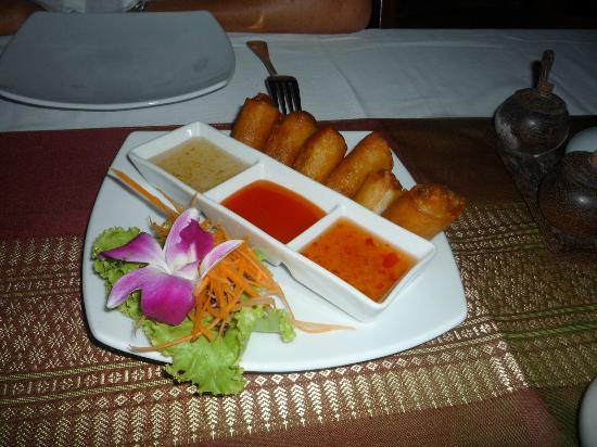 Manubai Restaurant Lounge-bar: Spring rolls with shrimps - super delicious