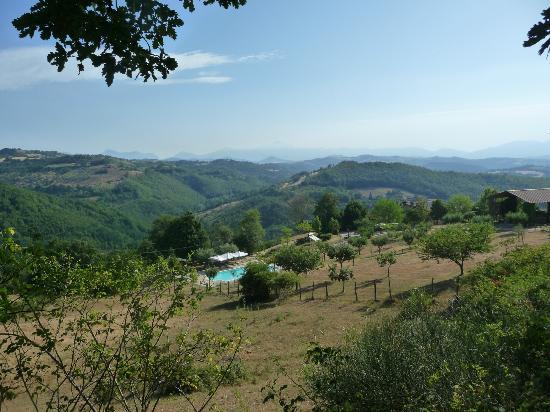Semidimela: View vanaf de toegangsweg