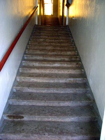 SwissSTAR B&B: Interiorstairs up to hotel