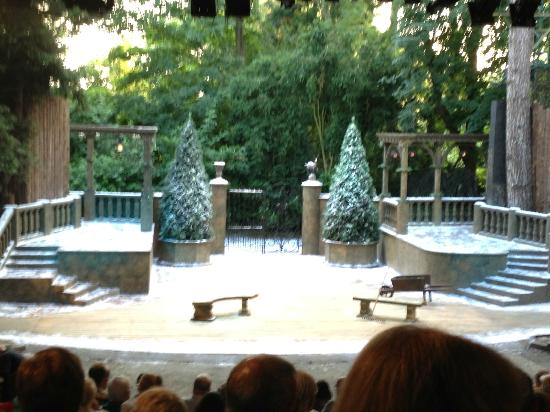 Rutland Open Air Theatre: The set of Twelfth Night - Summer 2012