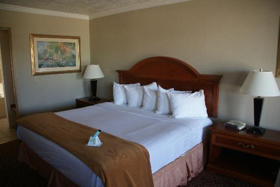 Red Arrow Inn & Suites: une super grande chambre très bien équipée (frigo, cafetière, etc) 