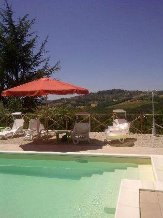 Villa Pina : Saltwater pool with a view
