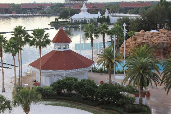 Disneys Grand Floridian Resort Spa View From Room Balcony Beach Wedding Chapel