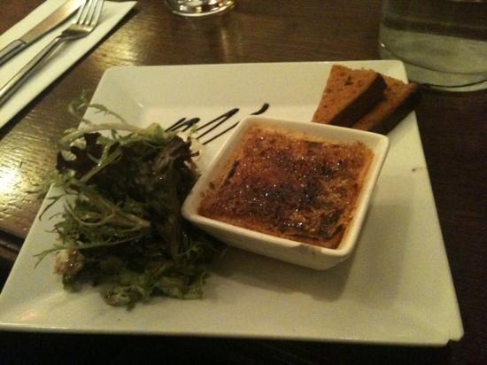 Petula cafe: crème brûlée au foie gras