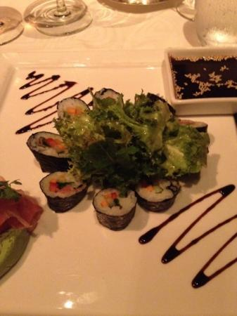 The Oberoi, Mauritius: vegetarian Sushi at main restaurant