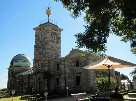 Observatory Hill: Sydney Observatory. Notice that the time-ball has been elevated to the top of the mast.