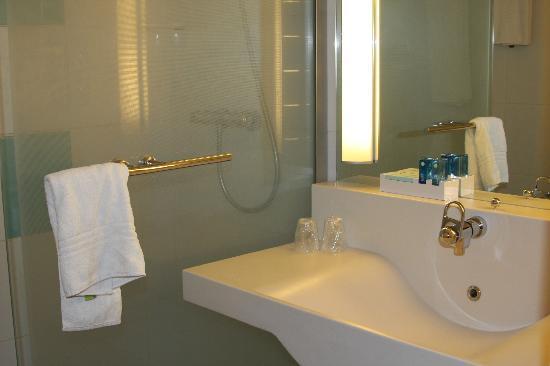 Novotel Saint Avold : Terrfic shower in this bathroom enjoyed shampoo samples