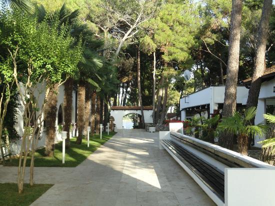 Villa Laguna Galijot: Der Blick von der Rezeption zum Eingang