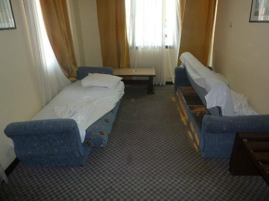 Hotel Grand Ozcelik: Chambre/salon