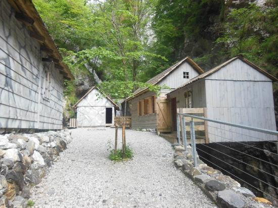 Franja Hospital: some of the exhibit buildings
