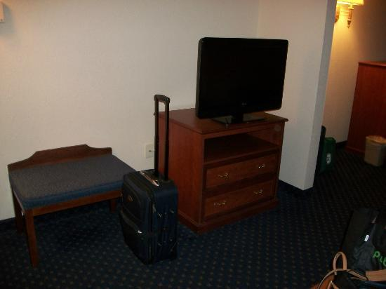 Holiday Inn Express Hotel & Suites Montgomery/Boyd Cooper Parkway: extra TV in sofa area