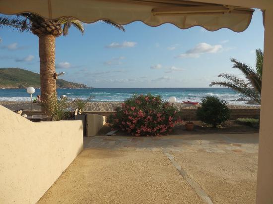 Motel Ta Kladia: Vue de la terrasse du logement