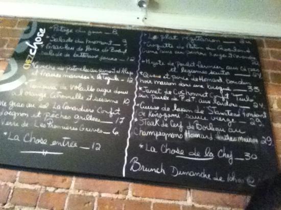 Chez Chose : ambitious and unique menu