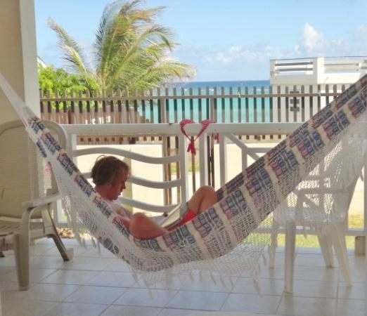 Ocean Bliss Apartments : Porch with Hammock