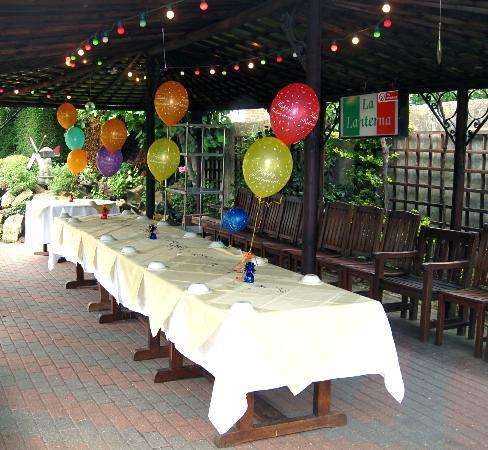 La Lanterna: PARTY TIME IN THE GARDEN