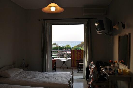 Vasilikos Beach Hotel: zimmer mit aussicht
