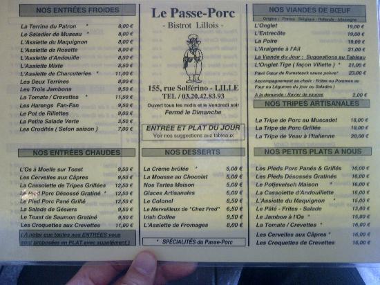 Restaurant Passe Porc Lille