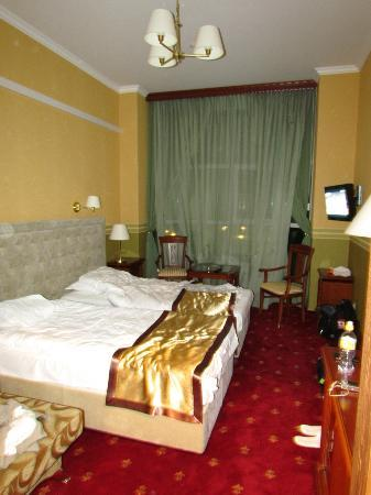 Khabez, Russia: View of the hotel room we stayed in