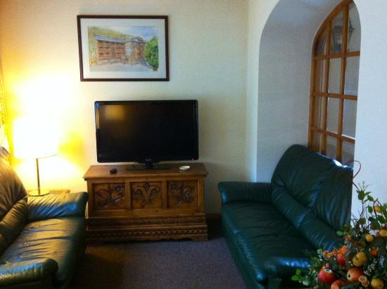 Hotel del Tarter: Salón lectura/TV