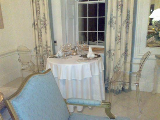Grand Dedale Country House: It was only the two of us for dinner.